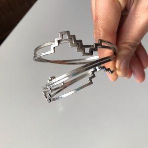 Lucky Brand Multi Set Silver Bangles